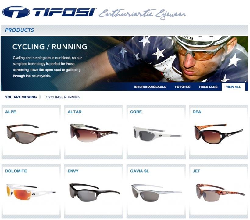 Tifosi Fahrrad und Running Brillen